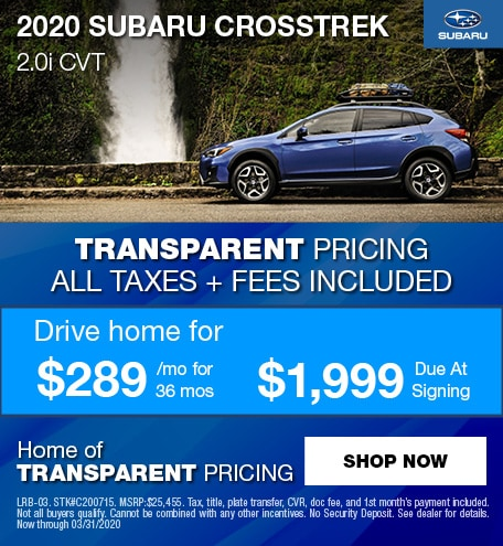 2020 Subaru Crosstrek Lease