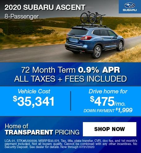 2020 Subaru Ascent 8-Passenger
