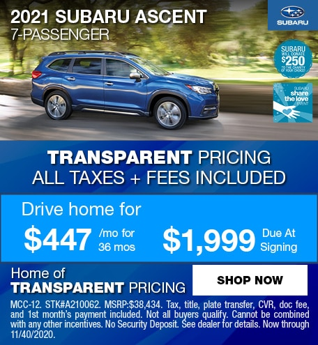 2021 Subaru Ascent 7-Passenger