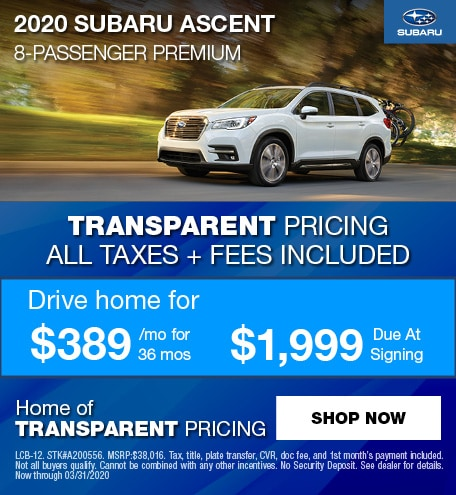 2020 Subaru Ascent Lease