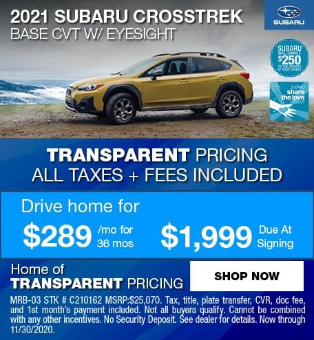 2021 Subaru Crosstrek Base CVT w/ eyesight