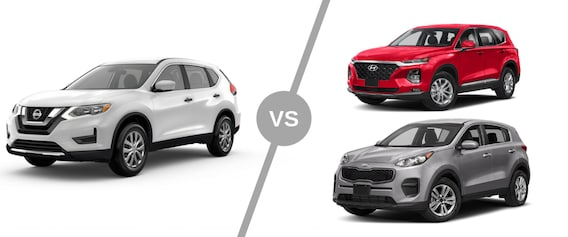 Nissan Rogue Vs Hyundai Santa Fe >> Compare Nissan Rogue Vs The Competition In Hyundai Santa Fe