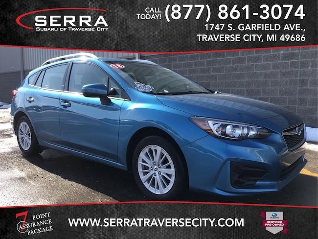 Pre-Owned 2018 Subaru Impreza 2.0i Premium Hatchback For sale in Traverse City, MI