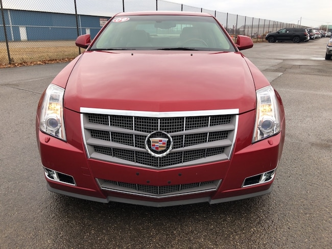 Used 2009 Cadillac Cts Sedan Crystal Red Tintcoat For Sale In