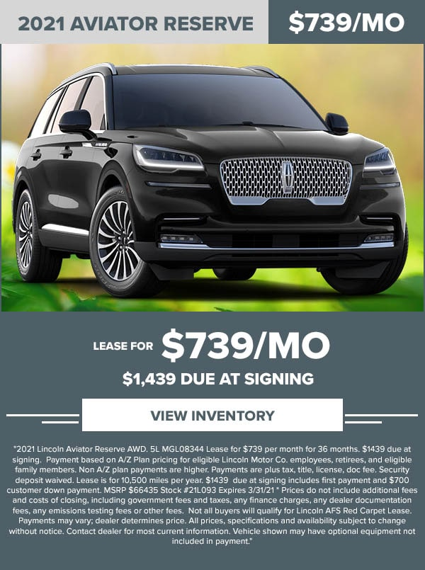 Lincoln Aviator lease