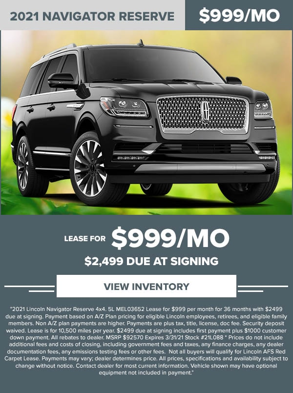 Lincoln Navigator lease
