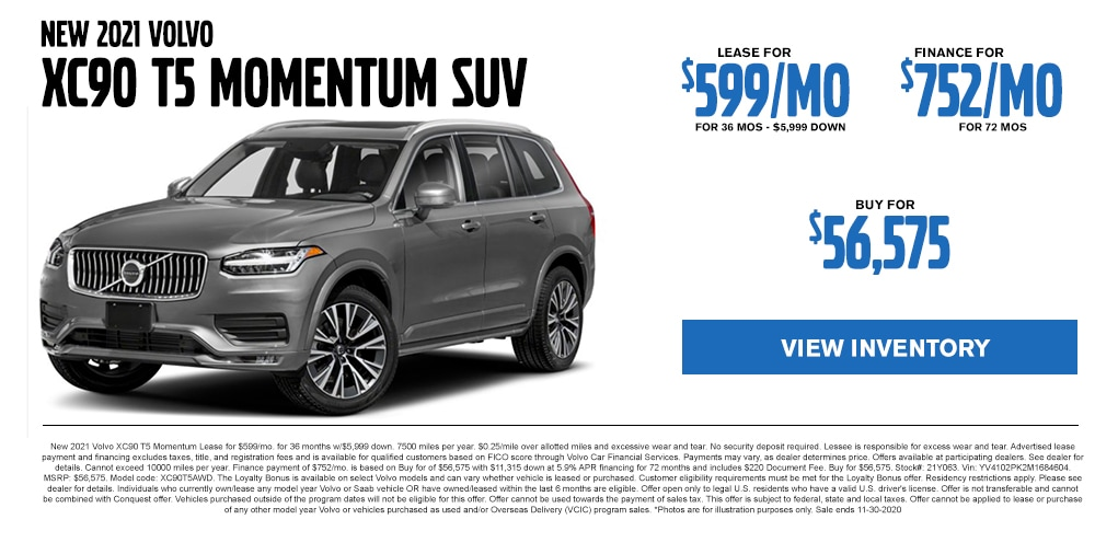 Volvo XC90 Lease Offer