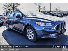 New 2019 Ford Fusion S Sedan 3FA6P0G75KR133001 in Odessa, TX