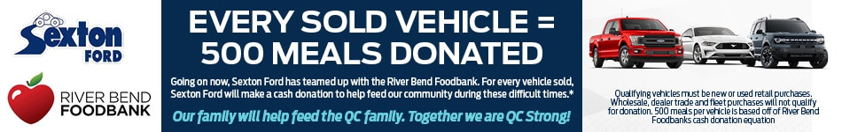 Every Vehicle Sold = 500 Meals Donated