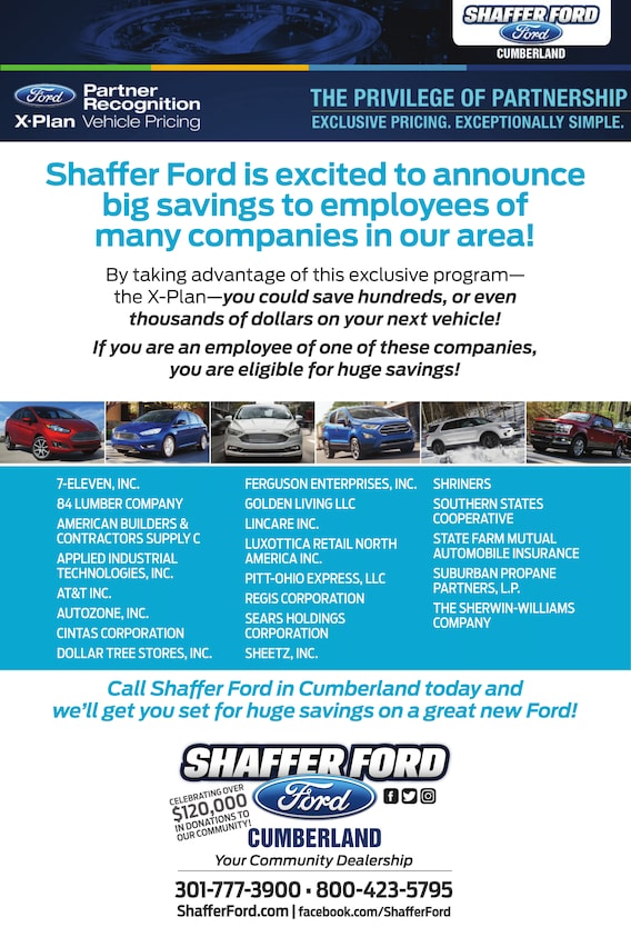 Ford X Plan Pricing >> X Plan Vehicle Pricing Shaffer Ford Shaffer Ford
