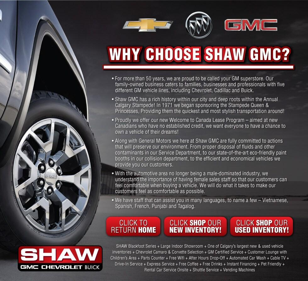 Why Choose Shaw GMC Chevrolet Buick | Calgary, AB