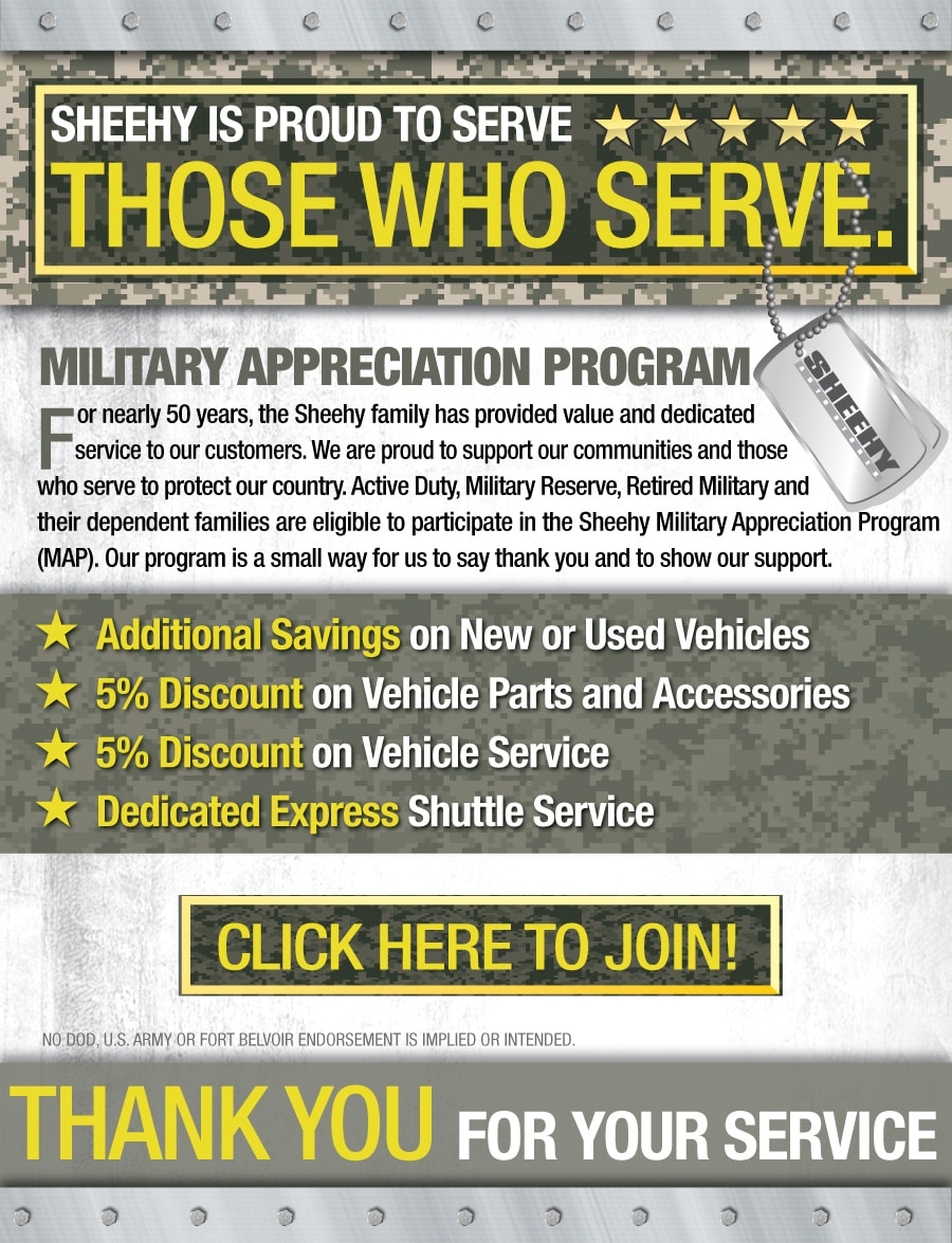 Sheehy ford of springfield military appreciation program