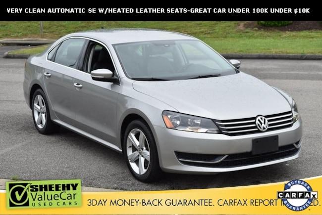 Bargain used vehicles 2013 Volkswagen Passat 2.5 SE Sedan for sale near you in Ashland, VA