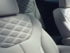 Quilted Nappa Leather Seating Surfaces