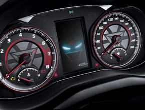 Gauge cluster with dynamic tech graphics