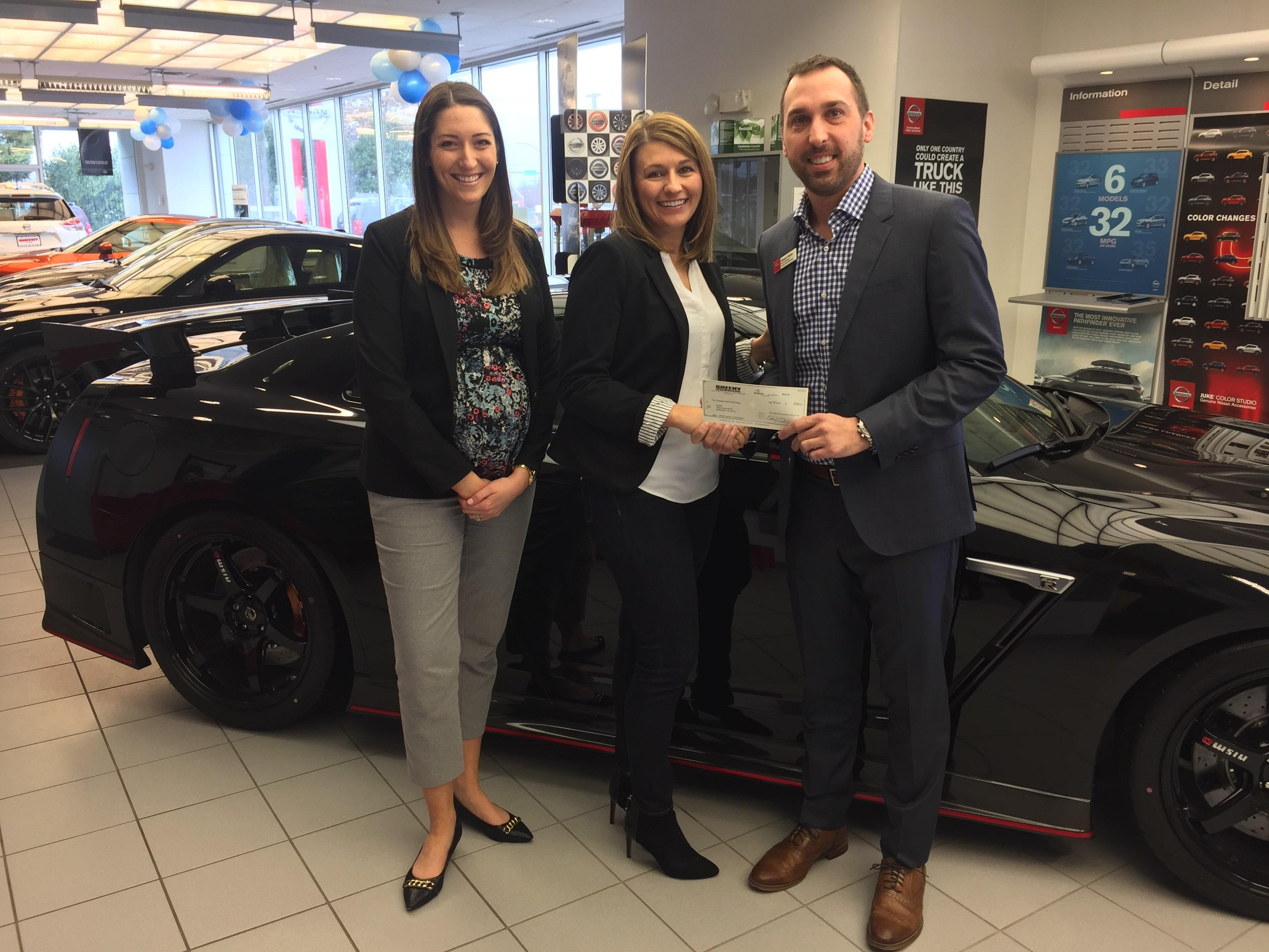 Sheehy Nissan Of Manassas Donates $10,000 To SERVE