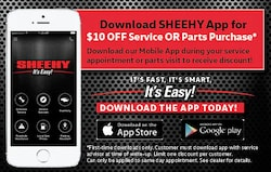 Download the Sheehy App for $10 off service or parts purchase!