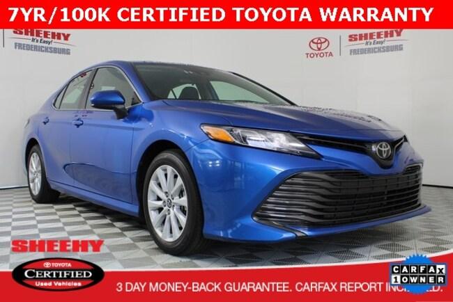 Certified pre-owned 2019 Toyota Camry Sedan for sale in Fredericksburg, VA
