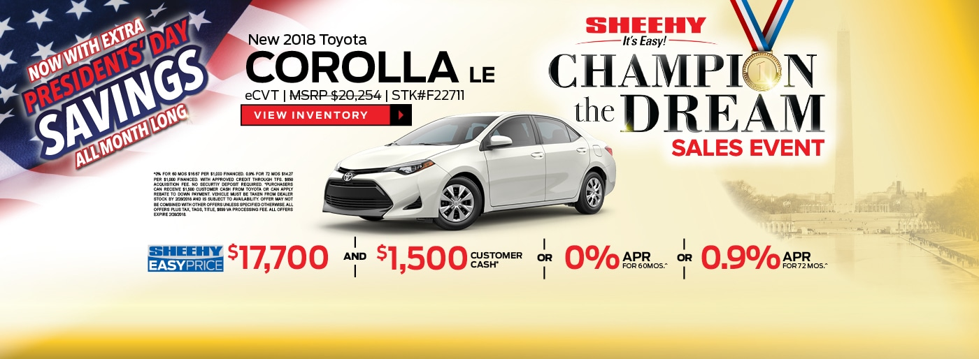 Sheehy Toyota Fredericksburg >> New & Used Toyota Dealership Near Me in Fredericksburg, VA