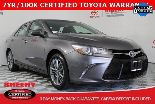 Certified pre-owned 2017 Toyota Camry Sedan for sale in Fredericksburg, VA