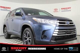New 2019 Toyota Highlander Hybrid LE V6 SUV for sale in Fredericksburg, VA