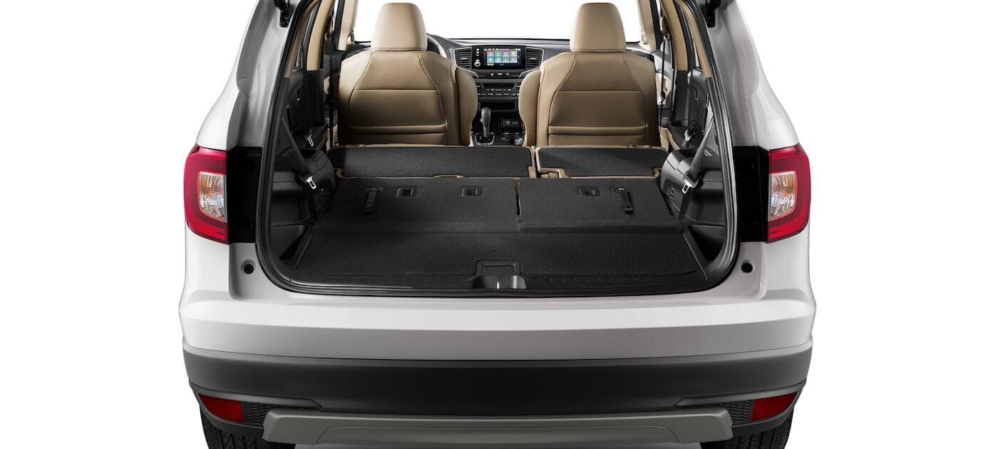 2019 Honda Pilot cargo space seats folded