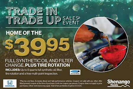 $39.95 Full Synthetic Oil and Filter Change, Plus Tire Rotation