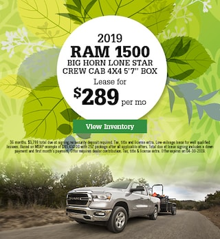 New 2019 RAM 1500 Big Horn Lone Star Crew Cab 4x4 5'7