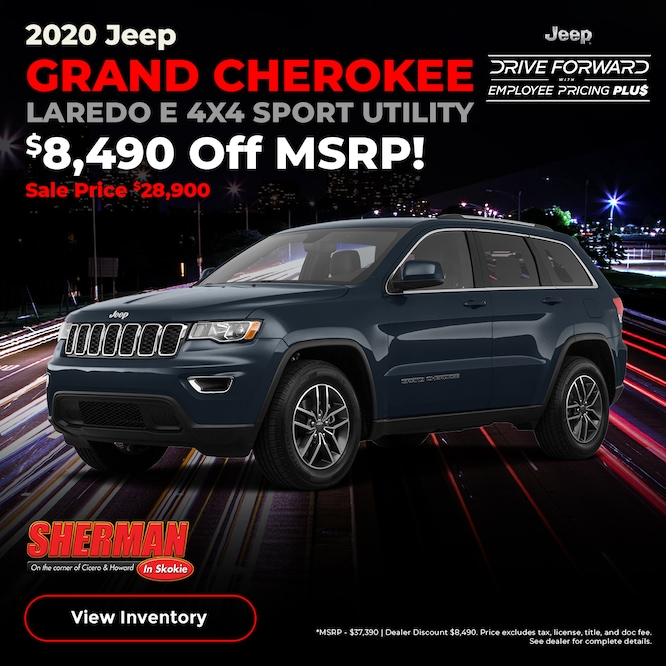 2020 Jeep Grand Cherokee Purchase Special