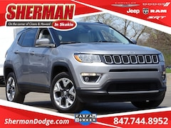2018 Jeep Compass Limited SUV 3C4NJDCB0JT356332 for sale in Skokie, Illinois at Sherman Dodge Chrysler Jeep RAM ProMaster