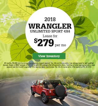 New 2018 Wrangle Unlimited Sport 4X4 4/4/2019