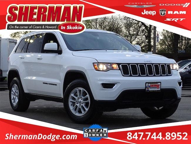 Used 2018 Jeep Grand Cherokee Laredo SUV for sale in Skokie, IL at Sherman Dodge Chrysler Jeep RAM ProMaster