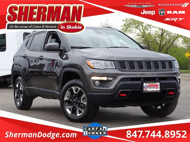 Used 2018 Jeep Compass Trailhawk SUV for sale in Skokie, IL at Sherman Dodge Chrysler Jeep RAM ProMaster