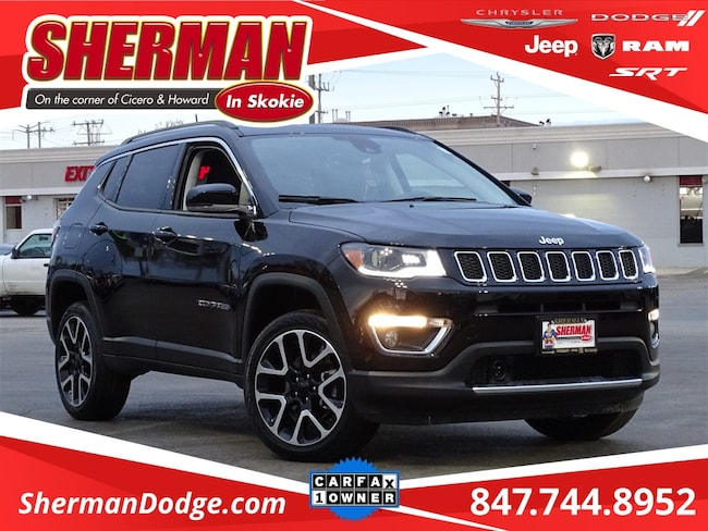 Used 2018 Jeep Compass Limited SUV for sale in Skokie, IL at Sherman Dodge Chrysler Jeep RAM ProMaster