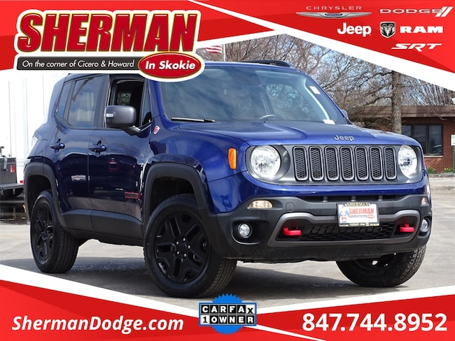Used 2018 Jeep Renegade Trailhawk SUV for sale in Skokie, IL at Sherman Dodge Chrysler Jeep RAM ProMaster