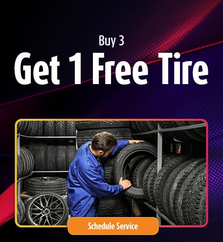 Buy 3 Tires Get the 4th FREE!