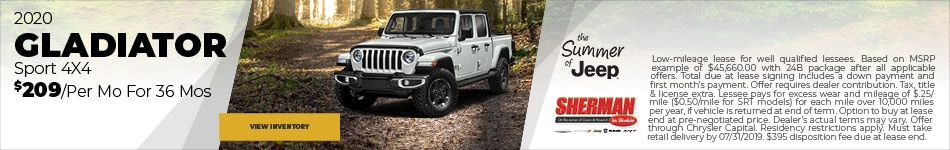 New 2020 Jeep Gladiator 7/19/2019