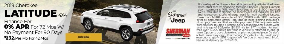 New 2019 Jeep Cherokee Latitude