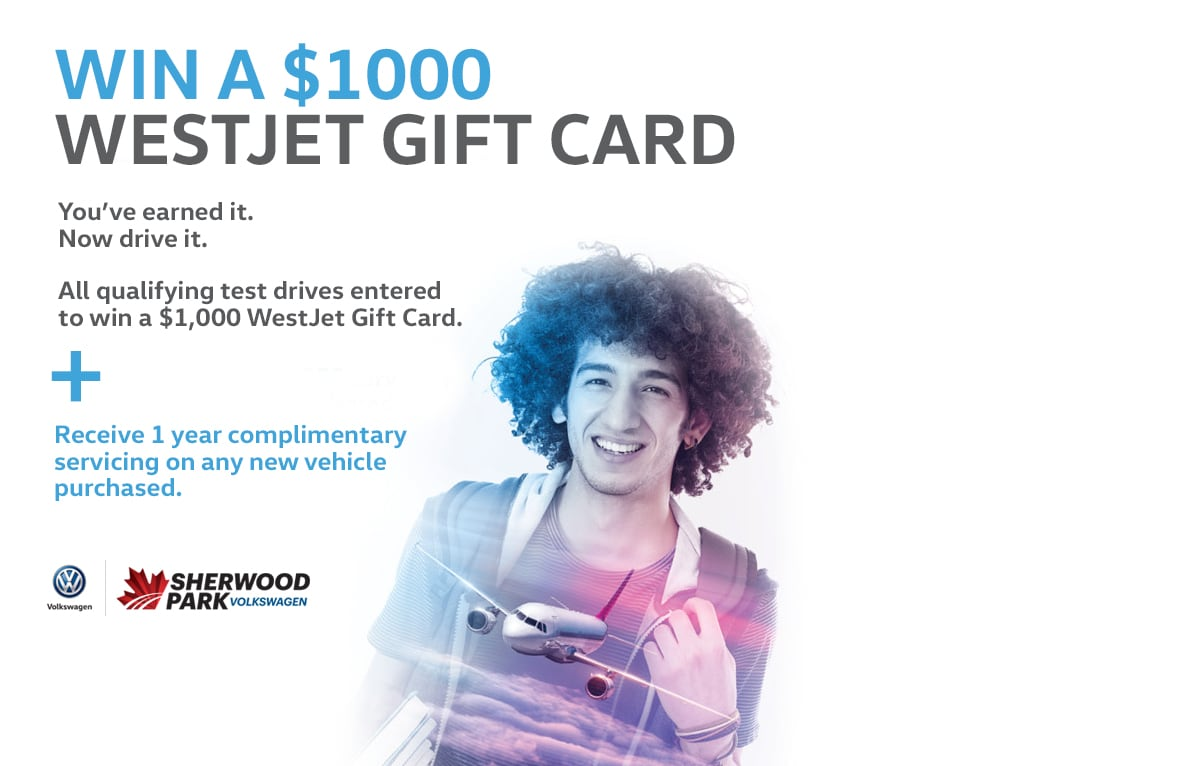 Enter To Win a $1,000 WestJet Gift Card