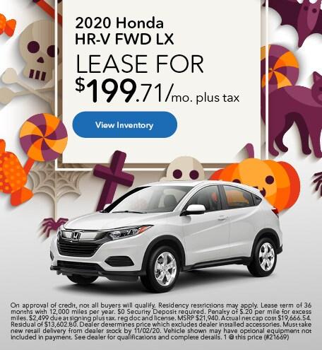 2020 Honda HR-V FWD LX - October 2020