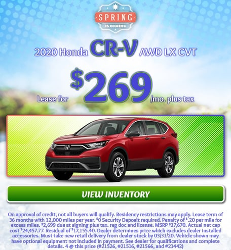 2020 Honda CR-V AWD LX CVT - March 2020