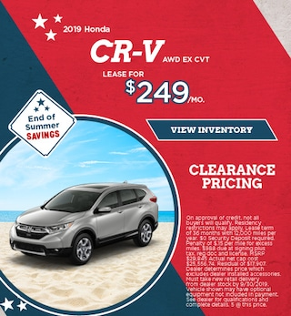 Lease 2019 CR-V AWD EX CVT 9/9/2019