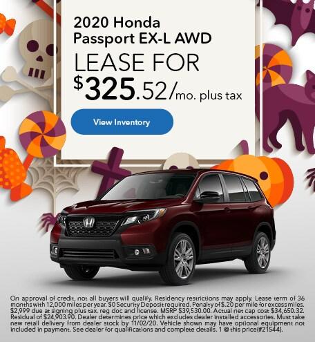 2020 Honda Passport EX-L AWD - October 2020
