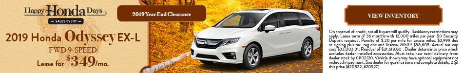 2019 Honda Odyssey EX-L FWD 9-Speed