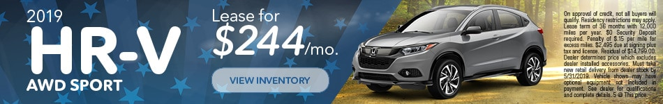New 2019 Honda HR-V AWD Sport 5/8/2019