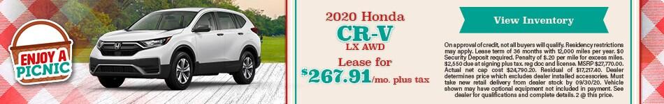 2020 Honda CR-V LX AWD - September 2020