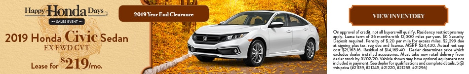 2019 Honda Civic Sedan EX FWD CVT