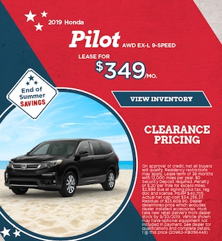 Lease 2019 Pilot AWD EX-L 9-SPEED 9/9/2019