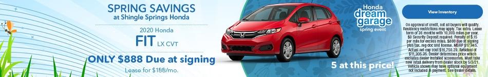 2020 Honda Fit LX CVT - April