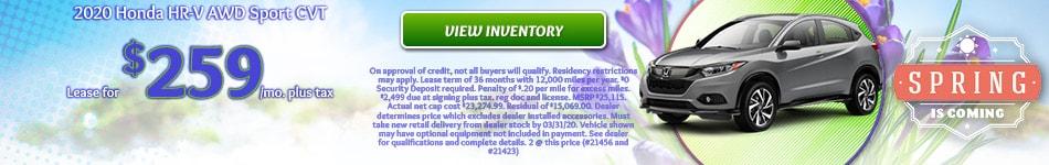 2020 Honda HR-V AWD Sport CVT - March 2020
